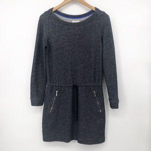 Lou & Grey: Drop Waist Gray Marbled Dress Small